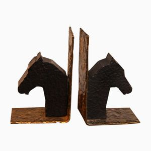 Vintage Brass Bookends, Set of 2