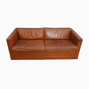 Cognacfarbenes Leder Sofa von Pierre Paulin für Artifort, 1960er