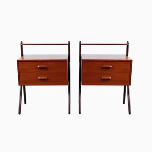 Nightstands in Teak from Ørum Møbelfarbrik, 1960s, Set of 2