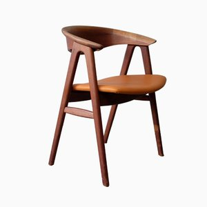 No. 52 Teak Compass Chair by Erik Kirkegaard for Høng Stolefabrik, 1960s