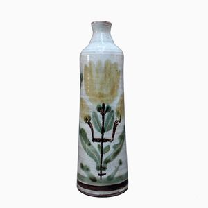 Vaso vintage floreale in ceramica di Gustave Reynaud