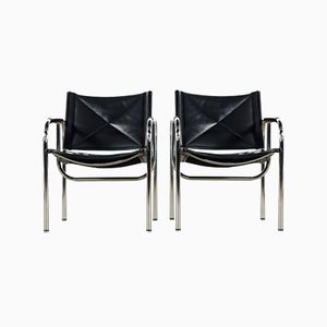 Swiss Lounge Chairs by Hans Eichenberger for Strässle, 1978, Set of 2