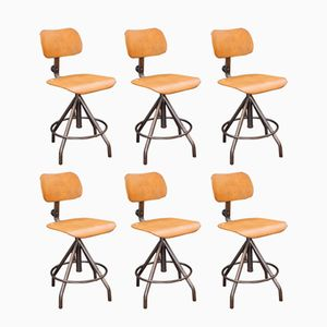Vintage Industrial Chairs by BAO, Set of 6