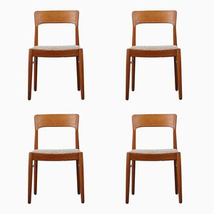 Scandinavian Teak Chairs by Kai Kristiansen for Korup Stolefabrik, 1950s, Set of 4