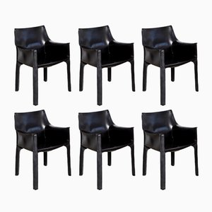 CAB 413 Chairs by Mario Bellini for Cassina, 1977, Set of 6