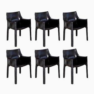 CAB 413 Stühle von Mario Bellini für Cassina, 1977, 6er Set