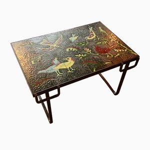 Vintage Coffee Table by Jacques Adnet