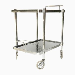 Chrome and Smoked Glass Trolley, 1970s