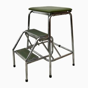 Vintage Green Step Ladder Stool