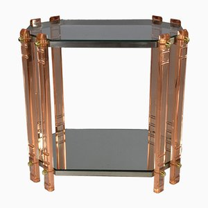 Vintage Plexiglass Side Table