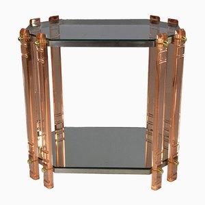 Vintage Plexiglass Side Table