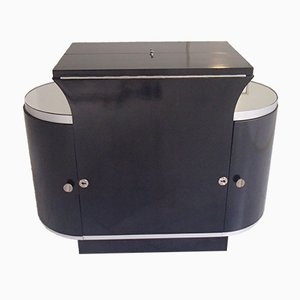 Art Deco Bar Cabinet in Black from D.I.M.