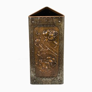 Jugendstil Umbrella Stand with Floral Motif, 1907