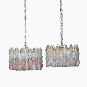 Vintage Chandeliers by Carlo Scarpa for Venini, Set of 2