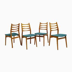 Französische Buchenholz Stühle, 1960er, 4er Set