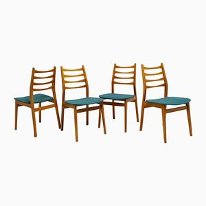 French Beech Chairs, 1960s, Set of 4