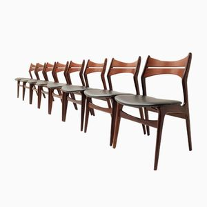 Chaises de Salon 310 Mid-Century par Erik Buch pour Chr. Christiansen, 1960s, Set de 8