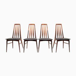 Chaises de Salon Eva en Palissandre par Niels Kofoed pour Hornslet Møbelfabrik, 1960s, Set de 4