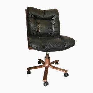 Skandinavischer Vintage Leder Stuhl