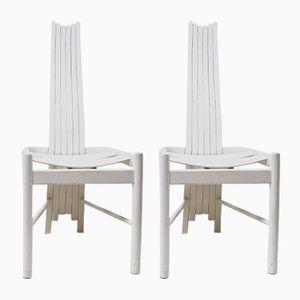 Chaises en Hêtre, 1960s, Set de 2