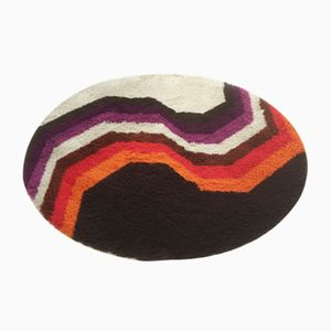 Vintage Circular Rya Rug from Desso, 1970s