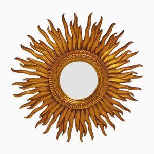 Specchio in legno intagliato, anni '60