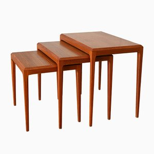 Nesting Tables by Johannes Andersen for Silkeborg Møbelfabrik, 1960s