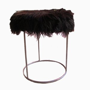 Black Fur Pouf, 1970s