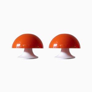 Italienische Vintage Tischlampen von Luigi Massoni für Guzzini, 1960er, 2er Set