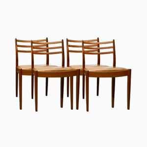 Vintage Vinyl & Teak Dining Chairs from G Plan, Set of 4