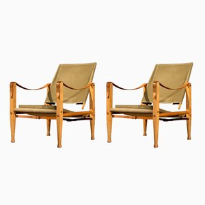 Mid-Century Safari Chairs by Kaare Klint for Rud. Rasmussen, 1960s, Set of 2