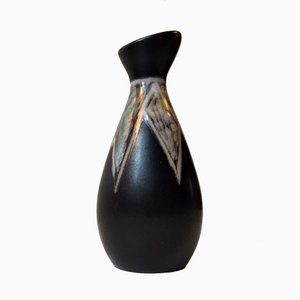 Danish Modernist Burgundia Ceramic Vase by Svend Aage Holm-Sørensen for Søholm, 1950s