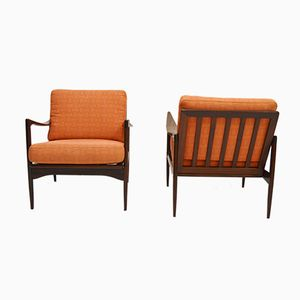 Kandidaten Lounge Chairs by Ib Kofod Larsen, 1960s, Set of 2