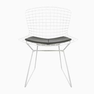 Beistellstuhl aus Weißem Draht von Harry Bertoia für Knoll International, 1970er