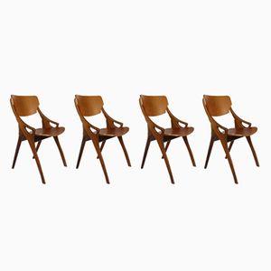 Chaises de Salon par Arne Hovmand Olsen pour Mogens Kold, Danemark,1950s, Set de 4