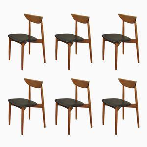 Teak Chairs by Harry Ostergaard for Randers Mobelfabrik, 1957, Set of 6