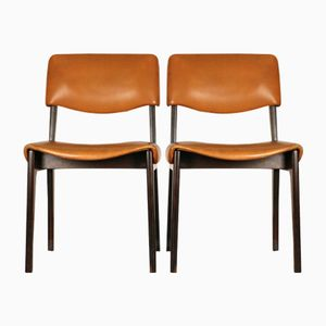 Mid-Century Italian Rosewood Chairs by Ico Parisi for M.I.M., Set of 2