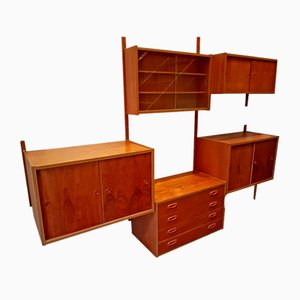 3-Bay Danish Shelving Unit by Preben Sorensen for Randers Møbelfabrik, 1960s