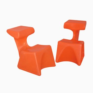 Zocker Chairs by Luigi Colani for Top-System Burkhard Lübke, 1973, Set of 2