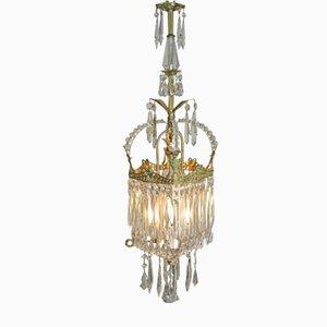 Art Nouveau Crystal Chandelier from Glasfabrik Joseph Palme Steinschönau