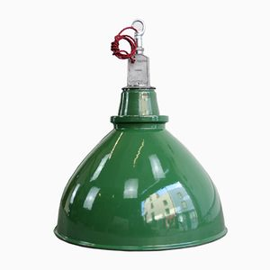 Large WW2 Munitions Factory Pendant Light from Thorlux, 1940s