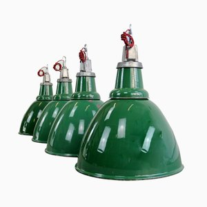Locomotive Factory Industrial Pendant Light from Thorlux, 1930s