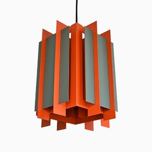 Danish Octagon Ceiling Lamp by Bent Karlby for Lyfa, 1968