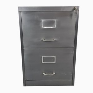 Vintage Stripped Roneo Steel Filing Cabinet, 1960s