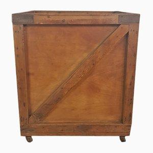 Industrieller Vintage Rollwagen aus Holz