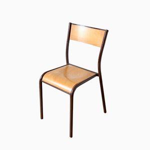 Chaise d'École Marron Vintage par Gaston Cavaillon pour Mullca, 1960s