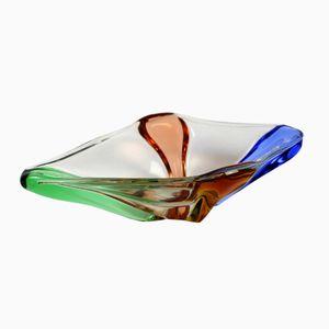 Mid-Century Schale aus Glas