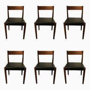 Mid-Century Dining Chairs by Frem Rojle for Poul Volther, Set of 6