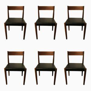 Mid-Century Esszimmerstühle von Frem Rojle für Poul Volther, 6er Set