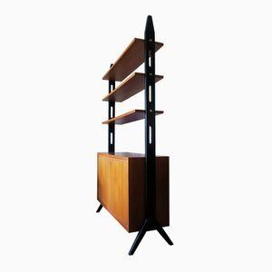 Freihstehender Raumteiler mit Regal von Bertil Fridhagen, 1950er
